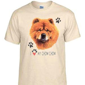 I love my Red Chow T shirt AKC, Pet
